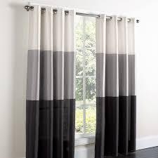 Black White Gray Curtains Triad Faux Silk Grommet Curtain Brylanehome