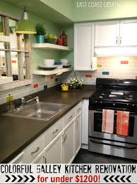 Opening Up A Galley Kitchen Colorful Kitchen Renovation Knock It Off East Coast Creative Blog