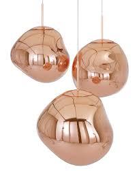Copper Flush Mount Light Melt Copper Pendant Light By Tom Dixon Interior Deluxe