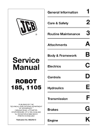 jcb 1105 1105hf robot service repair manual sn 746001 to 746999 and u2026