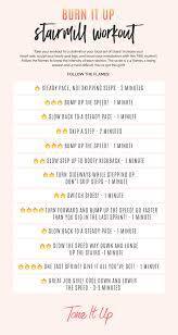 Number Stairs by Burn It Up Stairmill Workout U2013 Toneitup Com