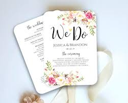 petal fan programs template wedding program fan template