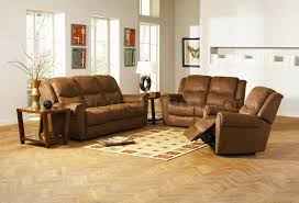 Brown Leather Reclining Sofa by Brown Leather Style Fabric Classic Reclining Sofa U0026 Loveseat Set