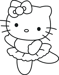 free kitty birthday coloring pages melody printable merry