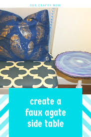 faux agate side table create a faux agate side table thrift store decor upcycle thrift