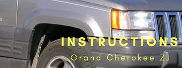 jeep instructions instruction library for jeep grand cherokee zj by vendor in pdf