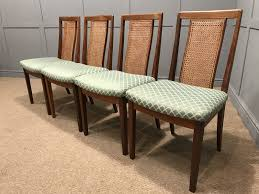 g plan teak dining chairs 4 x cane back chairs retro vintage free