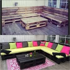 some pallets a little paint some home depot cushions and elbow