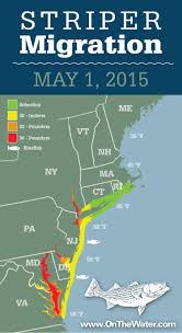 Wilmington De Zip Code Map by Striper Migration Map May 1 2015 On The Water