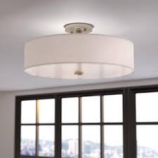 Flush Mount Lighting For Kitchen Modern Contemporary Flush Mounts You Ll Wayfair