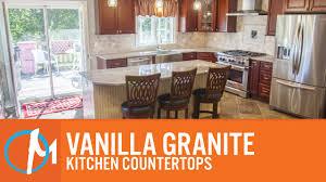 vanilla granite kitchen countertops youtube