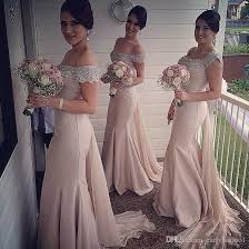 wedding dresses for of honor mermaid bridesmaid dresses 2017 blush the shoulder with