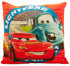 lightning mcqueen and mater cushion disney cars bedding kids