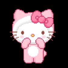 kitty pink gif u0026 share giphy