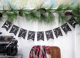 faux chalkboard free printable christmas banner the happy housie