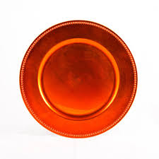 orange tangerine charger plates bulk 24 plates 402078