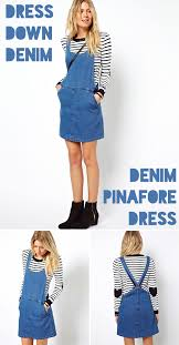 denim pinafore dress florence finds