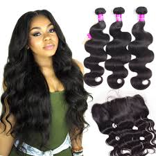 body wave hair with bangs brazilian body wave hair 3 bundles with frontal tinashehair