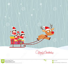 merry christmas winter with kids stock vector image 45513200