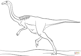 jurassic gallimimus coloring page free printable coloring pages