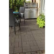 Home Depot Concrete Patio Blocks by Envirotile Cobblestone 18 In X 18 In Earth Paver 4 Case