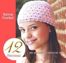 modelos modernos para gorras tejidas con 12 patrones ganchillo de gorros muy femeninos crochet y dos agujas