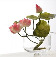 cheap flowers real touch flower lotus hawaiian cheap flower wedding foam