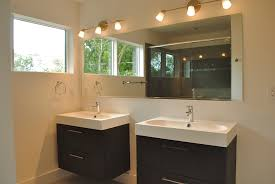 Bathroom Cabinets Ikea by Black Wooden Floating Bathroom Vanity With Square Glass Bathroom
