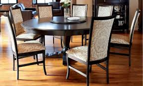 70 inch round dining table of with solid walnut arts and craft