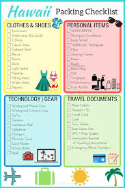 Hawaii traveling essentials images Travel checklist print out travel packing list best 25 travel jpg