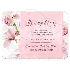 wedding reception cards orchid wedding reception card pink burgundy