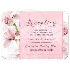 wedding reception card orchid wedding reception card pink burgundy