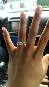 size 6 engagement ring e rings on sizes 6 fingers weddingbee
