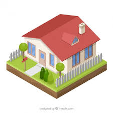 3d style house vector free download