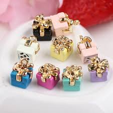 necklace earring gift box images 3d birthday gift box shape diy jewelry charms 30pcs fashion phone jpg
