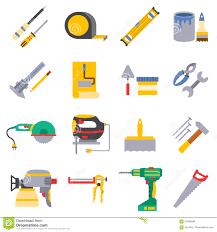 vector various color flat design house repair instruments