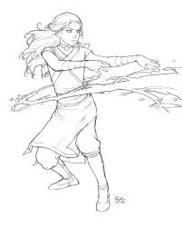 avatar airbender coloring pages google anime