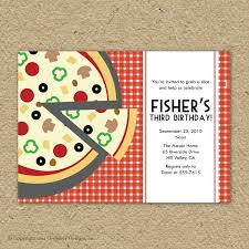Create Invitation Cards Pizza Party Invitations Theruntime Com