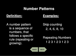 pattern and numbers patterns number and geometric