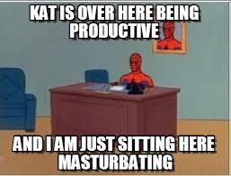 Kat Meme - kat is over here being productive on memegen