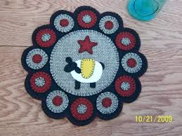 426 best wool penny rugs images on pinterest penny rugs wool