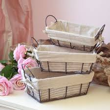 Shabby Chic Wire Baskets by 111 Best Baskets In Wire Images On Pinterest Wire Baskets Egg