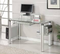 Black Glass Top Computer Desk Modern Glass Computer Desk Size Stunning And Modern Glass