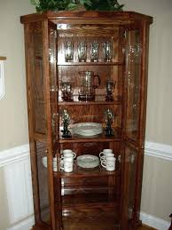 corner cabinet dining room hutch contemporary cabinets glass