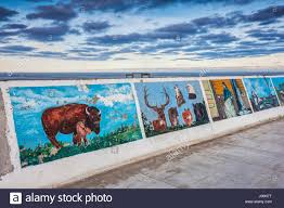 gimli mural seawall gallery gimli lake winnipeg stock photo gimli mural seawall gallery gimli lake winnipeg
