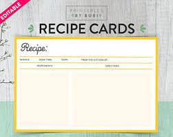 editable recipe card etsy