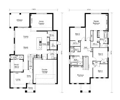 double floor house plans small double storey houses plans modern home cool house design