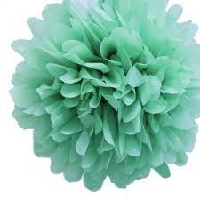 mint green tissue paper 3x diy hanging tissue paper pom poms flower balls home party