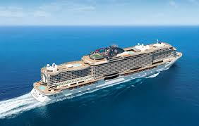 msc cruises newest megaship touches water for the time