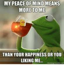 Peace Memes - my peace of mind means more to me than your happiness or you liking